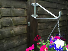 """ON OFFER Hanging Basket Brackets For 4"""" Fence Posts or Walls No Rust With Fixing"""