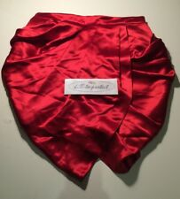 BALMAIN x H&M SILK DRAPED MINI SKIRT RED Size 14 US10 EU40 Rare F/W 2015 WMNS