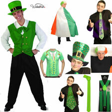 St Patrick's Day Unisex Costume Irish Shirt Flag Wigs Tie Cape Hats All In One