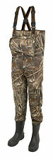 PROLOGIC MAX5 XPO NEOPRENE CLEATED SOLE CHEST WADERS FISHING UK SIZE 7.5 - 12