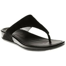 New Womens FitFlop Black Banda Leather Sandals Flip Flops Slip On