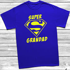 Super Grandad Mens T shirt Tee Perfect Fathers Day Gift FREE POSTAGE S-5XL