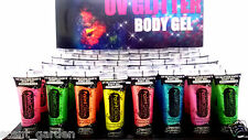 PaintGlow UV GLITTER Face &Body Gel Paint lot ❤ Party & Rave ❤ Buy 3 Get 1 FREE