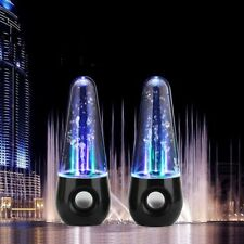 DUE PCS OF ACQUA DANZANTE ALTOPARLANTE STEREO FONTANA LED RITMO PER TELEFONI/