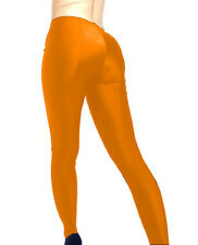 MADAME FANTASY SEXY ORANGE OPAQUE SPANDEX FOOTED LEGGINGS S M L XL XXL XXXL Tall