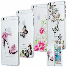 SLIM TPU CASE STRASS SCINTILLANTS COQUE HOUSSE COVER MOTIF APPLE IPHONE CLEAR