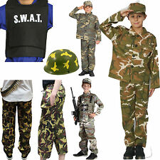 Kids Children's Armed Forces Camouflage Fancy Dress Costumes Complete Outfit