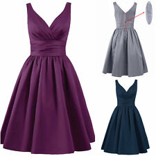 Sexy V Neck New Short Bridesmaid Dresses Formal Party Cocktail Prom Evening Gown