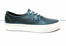 Scarpe donna Vans shoes scarpe casual sneakers in pelle metallizzata col. Blu