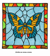 Window Color Bild Fensterbild Sticker Schmetterling Mosaik Stil (269) Handarbeit