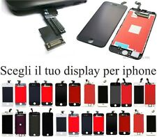 Display iphone 4 4S 5 5S 5C 6 6S 6 plus 7 7+ bianco nero lcd iphone WHITE BLACK