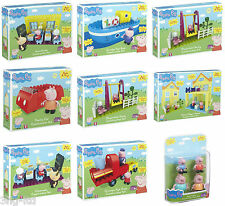 Peppa Pig Building Construction Building Blocks Playset Toys & Figures 8 Sets
