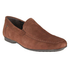 Salt N Pepper 10-506 Virtual Brown Suede Leather Loafers