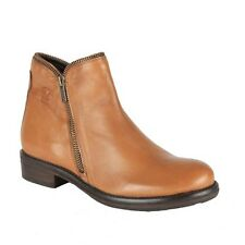 Salt 'n' Pepper Tan Coloured Leather Boots For Womens (14-475-Tan)
