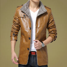 New winter men's business casual leather jacket young male Korean version of