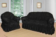 Black Jacquard Sofa Covers for 1, 2 & 3 seater sofa / Alternate to Sofa Throw