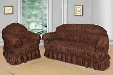 Brown Jacquard Sofa Covers for 1, 2 & 3 seater sofa / Alternate to Sofa Throw