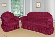 Burgandy Jacquard Sofa Covers for 1, 2 & 3 seater sofa / Alternate to Sofa Throw
