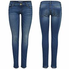 ONLY Damen Hüft Jeans Hose CORAL SUPERLOW SKINNY 1646 Denim blau 15103394 W26-31