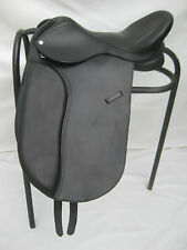 """New"" Leather Dressage Treeless Saddle Black Size 16"" 17"" &18""Horse Wear Saddles"