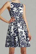 KATE SPADE Tanner Monaco Floral White Blue Fit Flare S/L Dress NWT NEW Womens 4