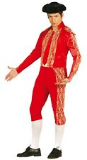 Adult Mens Red Bull Fighter Spanish Matador Stag Do Fancy Dress Costume Outfit
