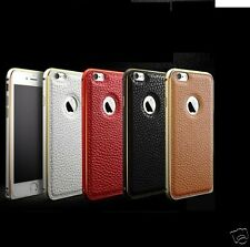 Leather metalic Ultra thin Bumper Back Cover Case For iPhone 6 Apple iPhone 6S