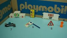 Playmobil trophy podium soccer flag warning sign police car roof sign CHOOSE 186