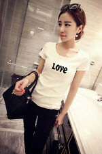 T-shirt letters printed short-sleeved compassionate female summer was thin