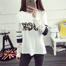 Long-sleeved T-shirt female loose letters printed long section of hollow thin