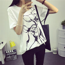 Korean summer women Korean letters printed cotton short-sleeved t-shirt lady