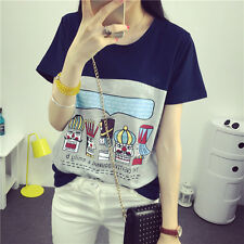 Korean summer new large size women's short-sleeve T-shirt Korean letters