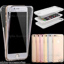 Full Body Thin TPU Shockproof Soft Gel Clear Case Cover Skin For Apple, Samsung