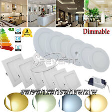 Dimmable 110-220V Lampada Pannello LED Recessed Ceiling Panel Light Lamp Bulb