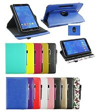 Universal elegant  (7 - 8 inch) 360° Rotating Wallet Case with Stylus Pen