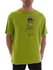 Quiksilver T-Shirt Top Shirt Dirty Lime green Skater boy Crew neck