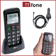 Black TTfone Mobile Astro TT450 Big Button Senior Basic Loud Volume GSM Sim Free