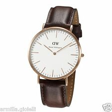 OROLOGIO DANIEL WELLINGTON 40 mm DW00100009 0109DW Bristol Rose Marrone Uomo