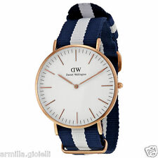 OROLOGIO DANIEL WELLINGTON 40mm 0104DW Glasgow Rose Gold Oro Rosa Uomo Man New