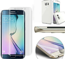 CLEAR PROTECTIVE CASE + TPU CURVED SCREEN PROTECTOR FOR SAMSUNG ALL LATEST MODEL