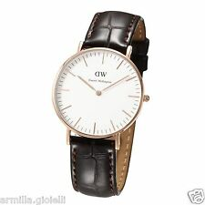 OROLOGIO DANIEL WELLINGTON 36mm 0510DW DW00100038 York Rose Gold Pelle Marrone