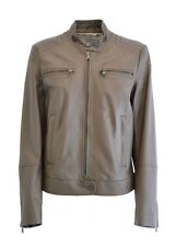 GIACCA GIUBBINO PELLE WAX DONNA WOMAN REAL LEATHER JACKET