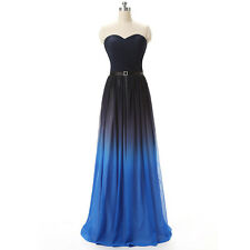 Sweetheart New Long Chiffon Prom Dresses Multi Color Formal Prom Evening Gown