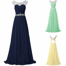 Cap Sleeve New Long Chiffon Bridesmaid Dresses Formal Prom Party Evening Gown