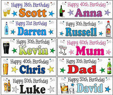 2x 3ft Personalised Any Age Name Character Theme Birthday Occasion Party Banner