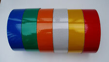 High Intensity Reflective Tape Blue Green Orange White Yellow Red -Various Sizes