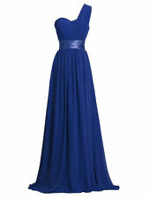 Chiffon Bridesmaid Dresses Formal Prom Party Bridal Gown One Shoulder Evening