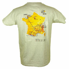 Le Tour de France - T-Shirt Tour de France Parcours 2016 Officiel  - Gris