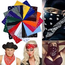 "100% Cotton Paisley Bandanas Double Sided Head Wrap Scarf Wristband 20X20"" Hot"
