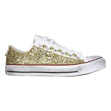 ALL STAR CONVERSE BASSE GLITTER ORO